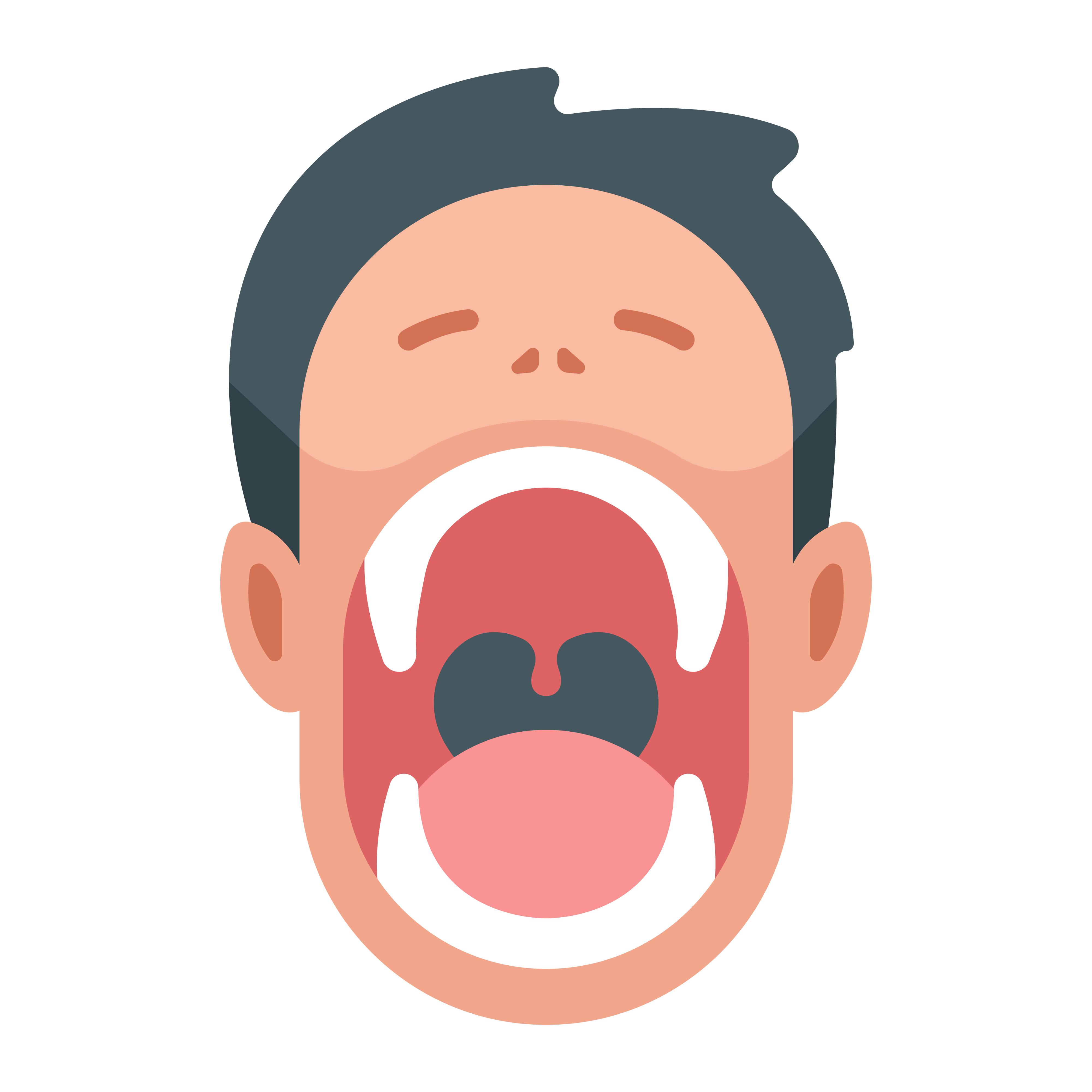 Картинка открытый рот ребенка